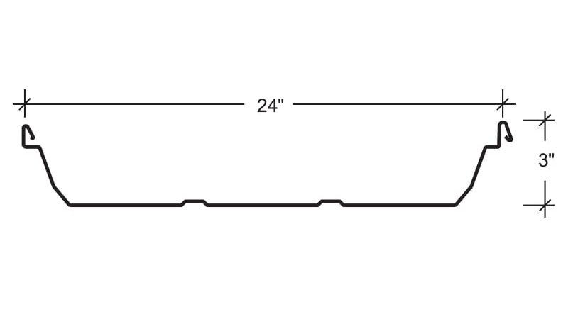 Ultra-Dek® 24 x 3 Roof Panels