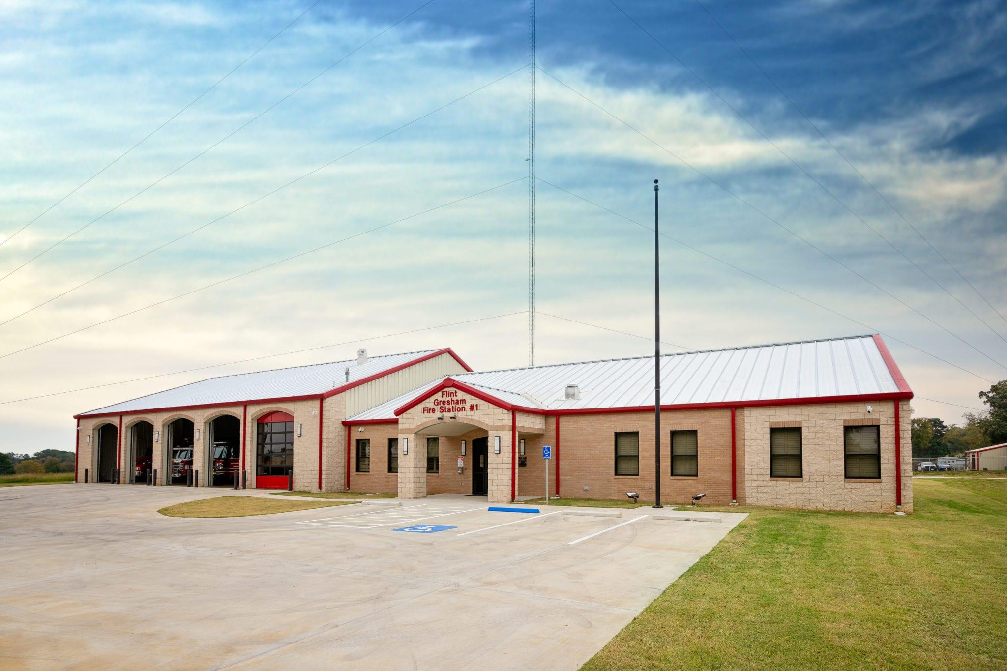 Flint-Gresham Fire Station Metal Building